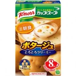 Knorr Potage soup คนอร์ ซุปมันฝรั่ง ฮอกไกโด พร้อมขนมปังกรอบโรยหน้าในซอง หอม อร่อย กล่อง 8 ซอง จากญี่ปุ่นค่ะ