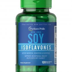 Puritan's Pride Soy Isoflavones 750 mg 120 เม็ด วิตามินสำหรับวัยทอง หรือคนที่มีระดับฮอร์โมนเอสโตรเจนลดลงค่ะ