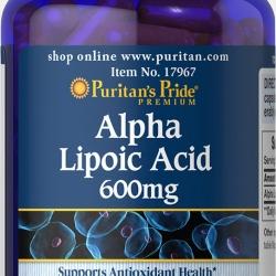 Puritan's Pride Alpha Lipoic Acid 600 mg. 120 เม็ด สุดยอดวิตามินต่อต้านอนุมูลอิสระ จากอเมริกาค่ะ