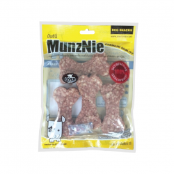 ขนมสุนัข MUNZNIE ครันชี่โบนนิ่ม รสตับ