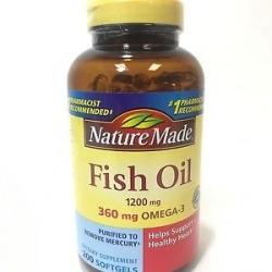 Nature Made Fish Oil 1200 mg 360 mg OMEGA 3 ขวด 200 softgels น้ำมันปลา โอเมก้า 3 จากอเมริกาค่ะ