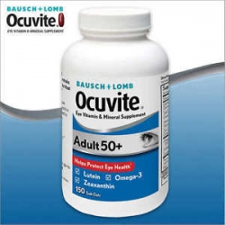 BAUSCH + LOMB Ocuvite Adult 50+ 150 เม็ด วิตามินบำรุงสายตาสำหรับผู้สูงอายุจากอเมริกาค่ะ