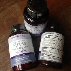 Vitamin World Stress B-Complex Time release with C 500 mg 60 เม็ด