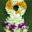 พวงมาลัยดอกไม้สด ขนาดกลาง รหัส 3308