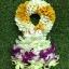 พวงมาลัยดอกไม้สด ขนาดกลาง