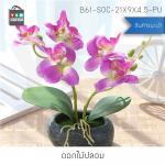 ต้นไม้ปลอม ต้นไม้แต่งบ้าน ดอกไม้พลาสติก ต้นไม้พลาสติก ดอกไม้ประดิษฐ์ (ต้นกล้วยไม้) รุ่น B61-SOC-21X9X4.5-PU