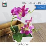 ต้นไม้ปลอม ต้นไม้แต่งบ้าน ดอกไม้พลาสติก ต้นไม้พลาสติก ดอกไม้ประดิษฐ์ (ต้นกล้วยไม้) ขนาด 14x6x22 CM. รุ่น B53-FOC-22X14X6-PU