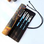 เคสใส่พู่กัน Brush Case กระเป๋าพู่กันระบายสี ผ้าแคนวาส งาน Hand-made