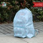 CASSA กระเป๋าเป้ กระเป๋าเดินทาง กระเป๋าสะพายพับเก็บได้ กระเป๋าผ้ากันน้ำ สีฟ้า ลายแพนกวิน รุ่น B33-30X47-B