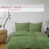 ผ้าปูที่นอนสีเขียวใบไม้ รหัส 06