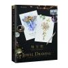 หนังสือสอนวาดรูประบายสีไม้ ภาพอัญมณี Jewelry เครื่องประดับ จิวเวอรี่ แวววาว Jewel Drawing