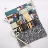 เคสใส่พู่กัน Brush Case กระเป๋าพู่กันระบายสี โทนสีเข้ม ผ้าญี่ปุ่นเนื้อดี งาน Hand-made