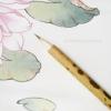 พู่กันจีน ขนกระต่ายและขนสัตว์ผสม สำหรับระบายสีน้ำ ด้ามไม้ไผ่