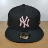 New Era MLB ทีม NY Yankees ดำปักชมพู 🎃ไซส์ 7 1/2 ( 59.6cm )