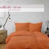 ผ้าปูที่นอนสีส้ม รหัส 08