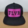 FLVR แบรนด์ Tastemakers ลายปักชมพู ฟรีไซส์ Snapback 57-60.6cm