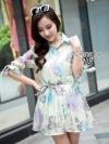 Floral Summer Shirt Jacket เดรสเชิ้ตผ้าแก้วทอพิเศษ พิมพ์ลายดอกไม้สร้างความสดใส่แก่สาวๆ มีผ้าผูกเอวเพื่อดูเป็นทรงสวยมากขึ้น ดีเทลกระดุมหน้า มีซับในๆตัว Cutting /Pattern สวยเป๊ะเหมือนแบบเลยค่ะ Quality Confirm By Cliona