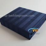 """ชุดผ้าปูที่นอนลายริ้วสีฟ้า - Blue Stripe 1"""""""
