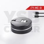 CAFELE สายชาร์จโทรศัพท์มือถือ Micro-USB to USB Cable สายแบน ยืดหดได้ ปรับขนาดความยาวได้ 20-100 cm สายชาร์จมาการอง