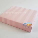 """ชุดผ้าปูที่นอนลายริ้วสีชมพูอ่อน - Romantic Pink Stripe 1"""""""