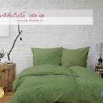 ชุดผ้าปูที่นอนสีพื้น-สีเขียวใบไม้ รหัส No.06