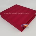 """ชุดผ้าปูที่นอนลายริ้วสีแดง - Red Stripe 1"""""""