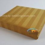 ชุดผ้าปูที่นอนโรงแรมลายริ้ว 3.5 ฟุต สีน้ำตาลทอง