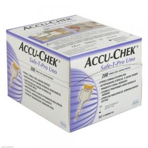 เข็มเจาะเลือด รุ่น Acuu-Chek safe-t-pro uno Lanset 200 ชิ้น