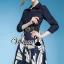 Bluely flora skirt denim dress ด้านบนตัวเสื้อเนื้อผ้ายีนส์กระโปรงเนื้อผ้าโพลีเอสเตอร์พิมพ์ลาย Detail : เก๋ๆ ด้วยทรงเดรสเชิ้ต ชายกระโปรงทรงบาน ทรงเก๋มากคะ เติมความสวยด้วยงานพิมพ์ลายที่กระโปรงเป็นลายกลีบดอกไม้ เติมความเก๋ด้วยเข็มขัดเส้นใหญ่ งานสวยเก๋มากคะ thumbnail 1