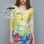 Colorful blooming lace mini dress thumbnail 1