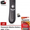 แอร์เมาส์ รีโมทอัจฉริยะ รุ่น T2 Wireless 2.4G Air Mouse Support for Android TV Box and Computer (Black) ฟรี ถ่านพานาโซนิค อัลคาไลน์ ขนาด AAA 2 ก้อน