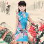 ชุดกี่เพ้าสีฟ้า ลายนกยูง ใส่วันตรุษจีนน่ารักมากๆค่ะ thumbnail 1