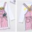 เดรสเด็กโตสีขาวแขนยาว สกรีนลาย จะใส่ในวันธรรมดาสบายๆ หรือใส่ไปเที่ยวก็น่ารักมากค่ะ thumbnail 6