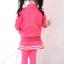 ชุดเซ็ทเด็กสีชมพู 2 ชิ้น เสื้อแขนยาวซิปหน้า+กางเกงเลกกิ้งขายาว แบบเข้าชุดใส่แล้วน่ารักเท่ห์สุดๆค่ะ thumbnail 5