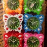 นาฬิกาปลุก ผีเสื่อ หน้าเขียว แพ็ก 6 ตัว