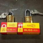 แม่กุญแจ สปริง Bliss ขนาด 25 mm