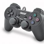 จอยเกมส์ joystick PS2 oker ดำ