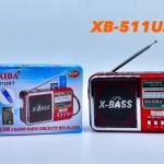 วิทยุ Fm-Am ขนาดเล็ก พกพา รุ่น XB-511URT