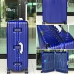 กระเป๋าเดินทางขนาด 28 นิ้ว โครงอะลูมิเนียม อลูมิเนียม วัสดุ ABS+PC รุ่น B1618 (สีน้ำเงิน)