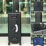 กระเป๋าเดินทางขนาด 28 นิ้ว โครงอะลูมิเนียม อลูมิเนียม วัสดุ ABS+PC รุ่น B1618 (สีดำ)