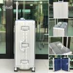กระเป๋าเดินทางขนาด 28 นิ้ว โครงอะลูมิเนียม อลูมิเนียม วัสดุ ABS+PC รุ่น B1618 (สีเงิน)