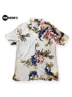 เสื้อเชิ๊ต ฮาวาย สีขาวลายดอก
