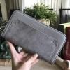 CHARLES & KEITH FLANNEL DETAIL LONG WALLET *เทา