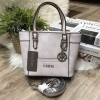 GUESS SAFFIANO MINI CROSS BODY BAG *สี ivory