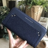 CHARLES & KEITH FLANNEL DETAIL LONG WALLET *ยีนส์
