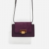 CHARLES & KEITH STONE BUCKLE SLING BAG *ม่วง