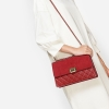 CHARLES & KEITH QUILTED PUSH-LOCK SLING BAG *แดง