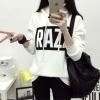 เสื้อแฟชั่นกันหนาว มีฮู้ด แขนยาว RAZZ สีขาว