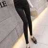 กางเกงทรงเข้ารูป ขายาว สีดำ