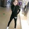 Set ชุดออกกำลังกาย สีดำ เสื้อแขนยาว กางเกงขายาว